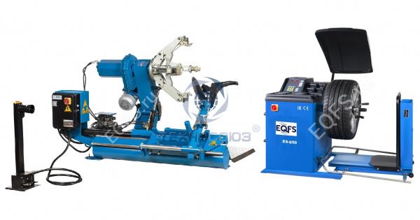 Комплект ES-26D Шиномонтажный стенд полуавтомат + ES-850 Балансировочный станок