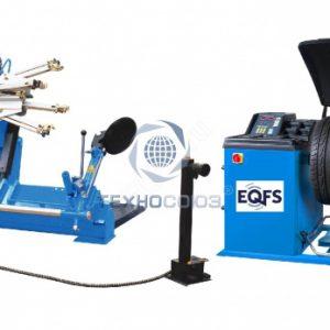 Комплект ES-52D Шиномонтажный стенд грузовой + ES-850 Балансировочный станок