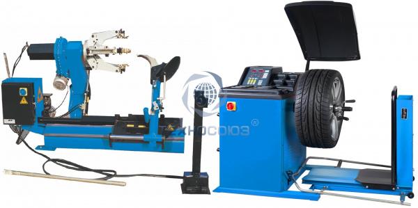 Комплект TS-26D Шиномонтажный стенд полуавтомат+TS-850 Балансировочный станок