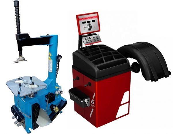 Комплект TS-3022 Станок шиномонтажный +TS-723 Балансировочный стенд для легковых авто