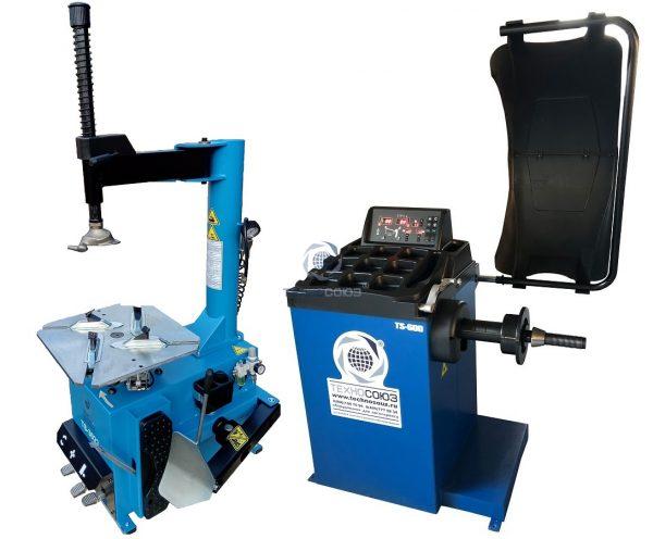 Комплект TS-3022 Станок шиномонтажный полуавтомат + Балансировочный станок автомат TS-600
