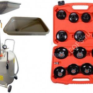 TS-2085+ES0901 Маслосборник + Набор съемников масляных фильтров