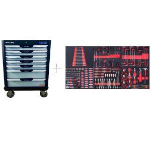 KRW-TTG+SET250 KraftWell Тележка с набором инструментов